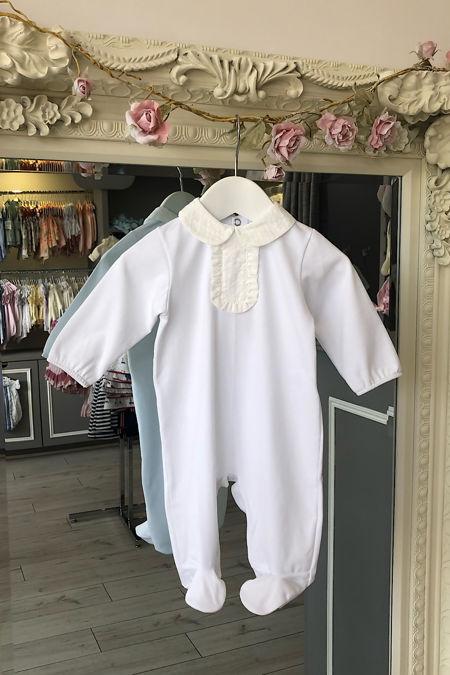 Roma white baby grow