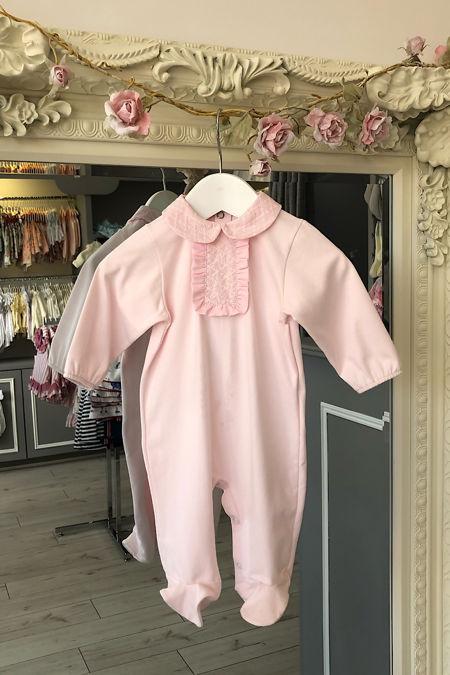 Roma pink baby grow