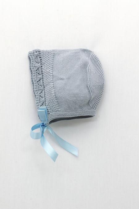 Foque blue knitted bonnet