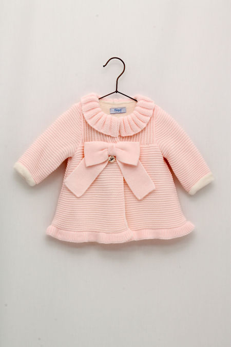 Foque baby pink knitted coat