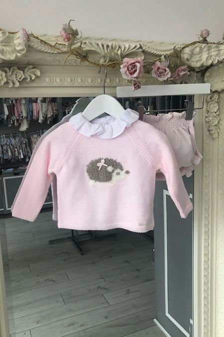 Yoedu baby pink hedgehog three piece set