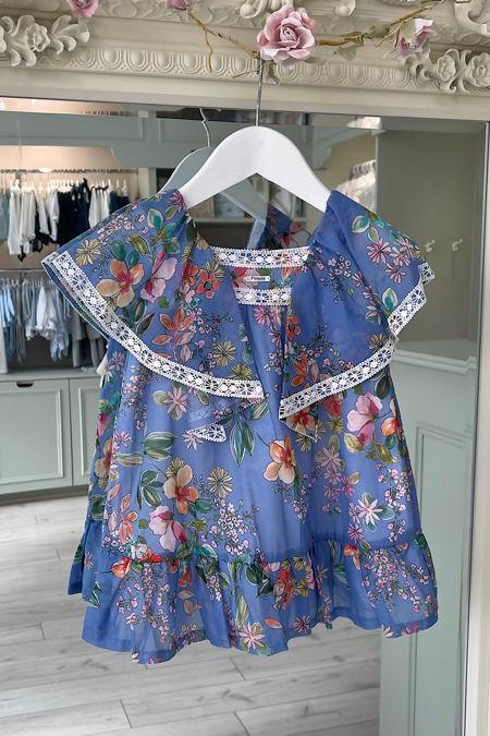 Foque blue floral dress