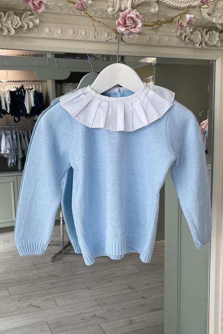 Baby blue frill collar jumper