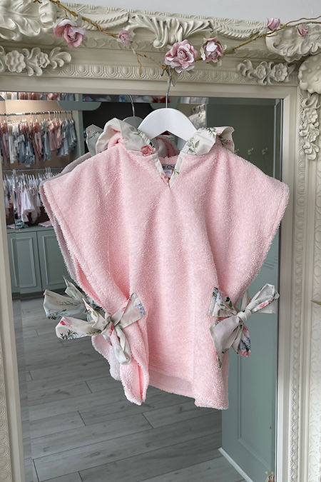 Sofia pink hooded towel top