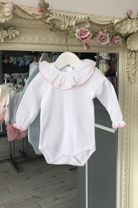 Pink trim long sleeved vest