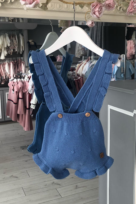 Jose Varon blue knitted romper