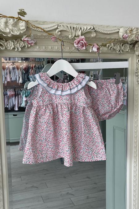 Jessie bow dress and knickers set