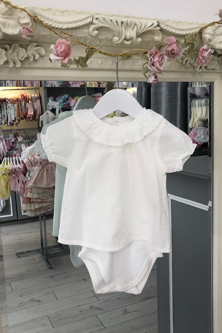 Florence short sleeve cream blouse