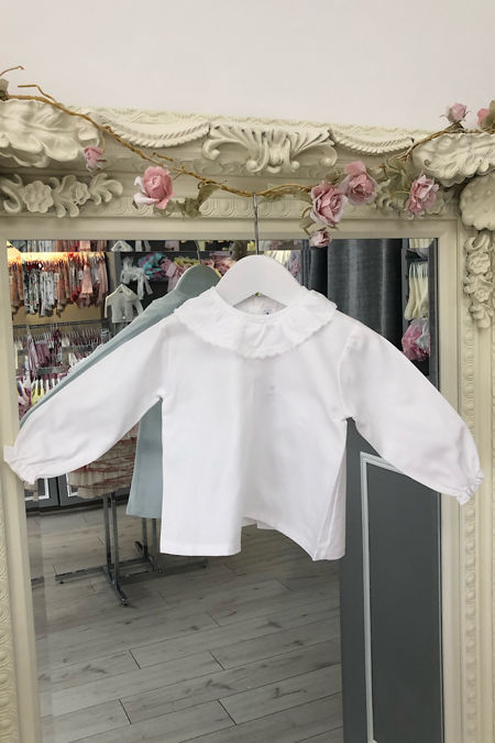 Valencia white frill collar blouse