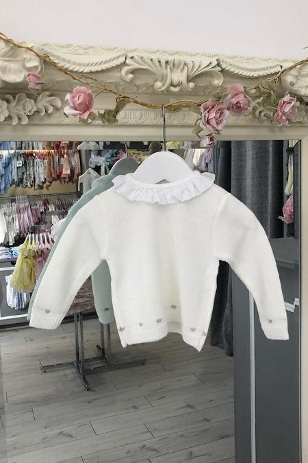 Cream frill collar knitted jumper