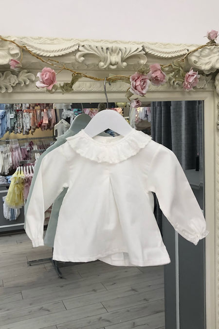 Valencia cream frill collar blouse