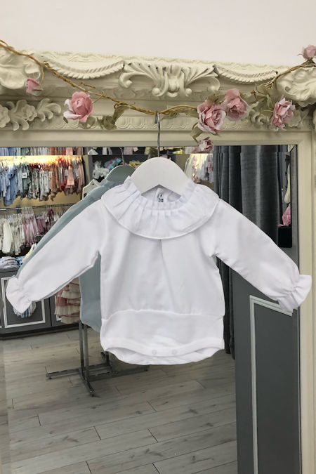 Dolcie white frill collar blouse