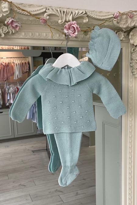 Juliana Sadie green three piece knitted set