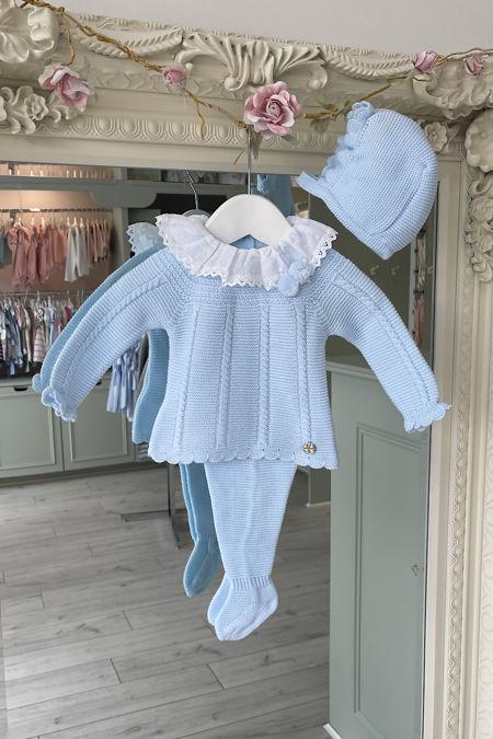 Juliana Bertie blue knitted three piece set