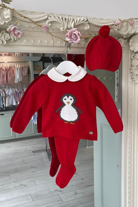 Juliana Penguin red knitted set