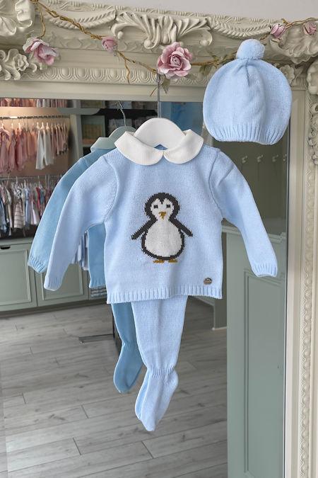 Juliana Penguin blue knitted set