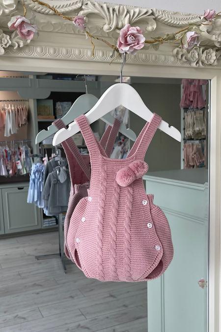 Juliana pink knitted romper