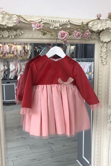 Yoedu red tulle dress