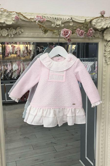 Yoedu Bobby pink and white dress