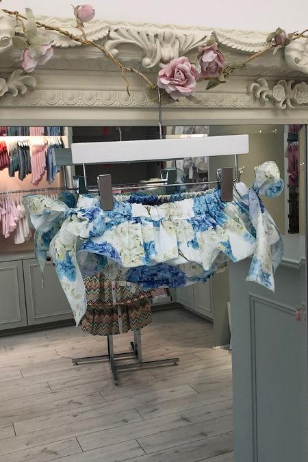 Phi blue hydrangeas print jam pants