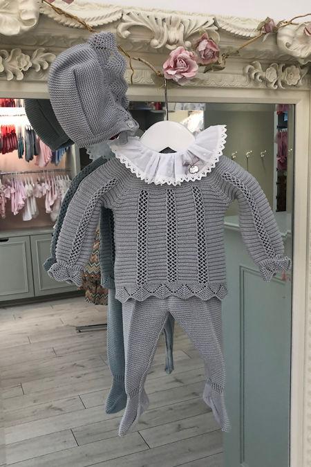 Juliana grey knitted three piece set