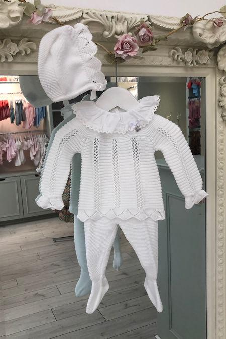 Juliana white knitted three piece set