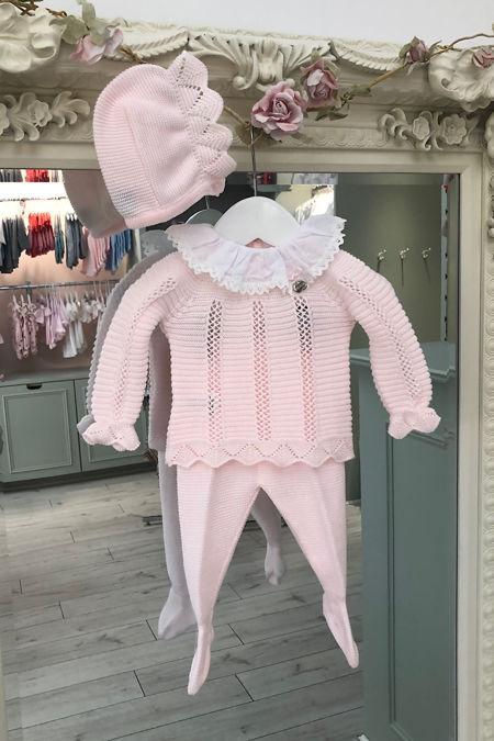 Juliana pink knitted three piece set