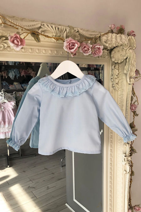 Betsy blue blouse
