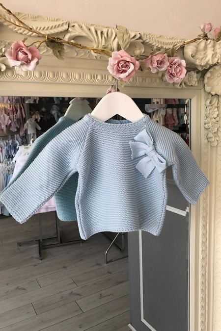 Blue bow jumper