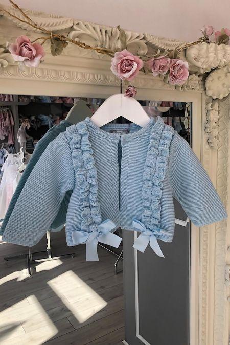 Rochy blue frill cardigan