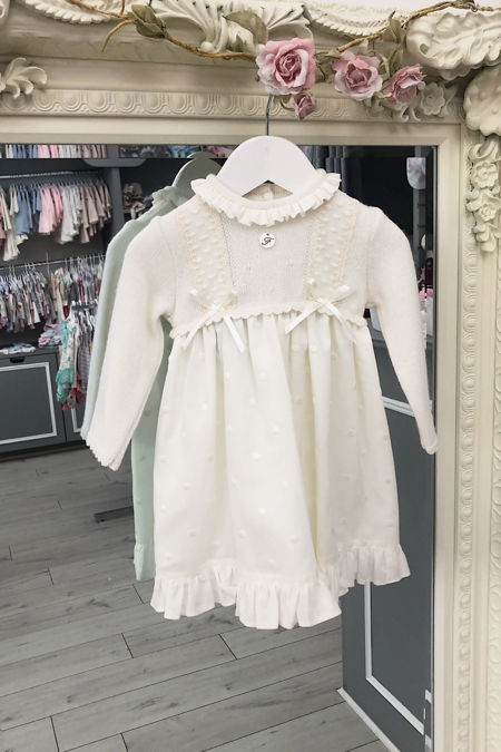 Foque cream half knitted dress
