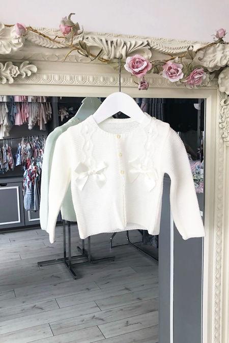 Cream bow cardigan