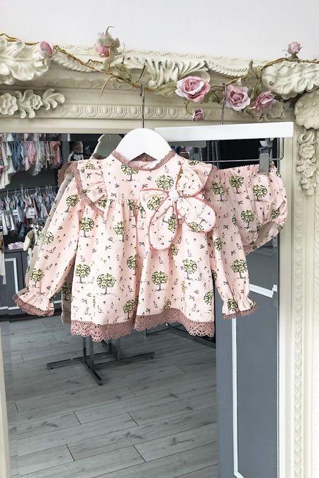 Valentina Eden pink printed dress