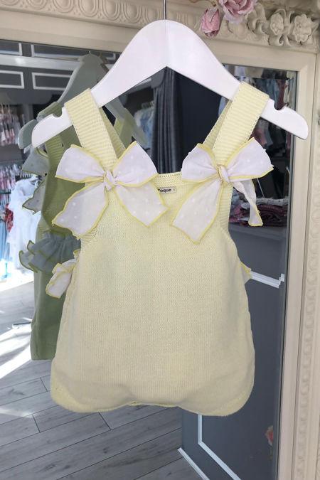 1f09c02fd Foque lemon knitted bow romper