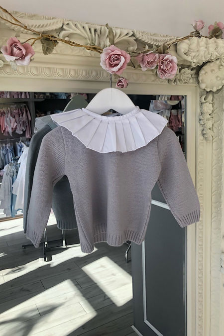 Grey frill collar jumper