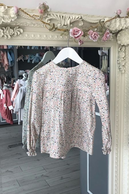 Jose Varon heart print blouse