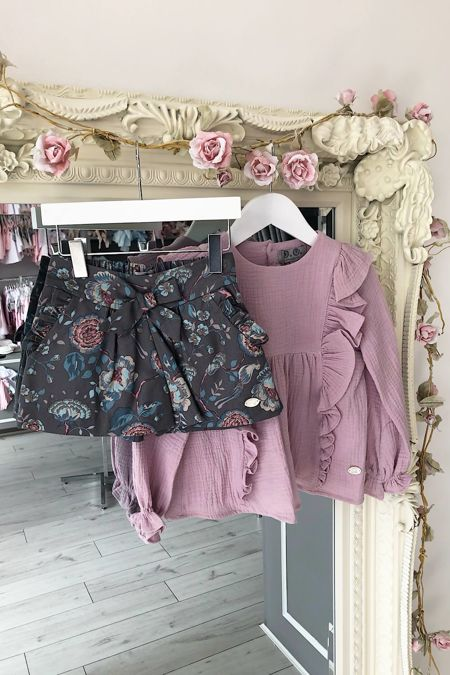 Jose Varon girls lilac floral short set