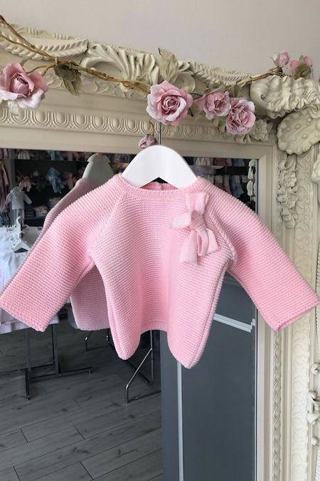 Pink bow jumper