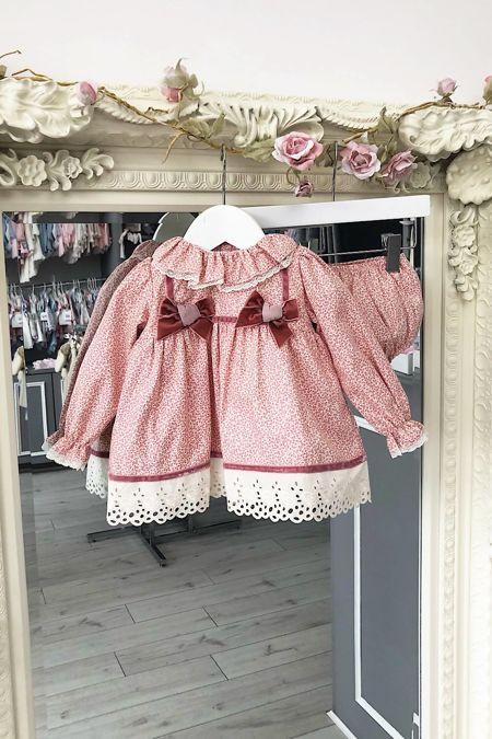 Valentina Millie dusky pink dress and knickers set