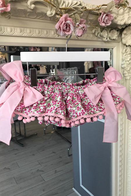 Phi pink floral jam pants