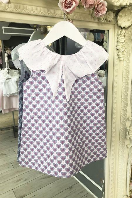 Lilac heart print dress