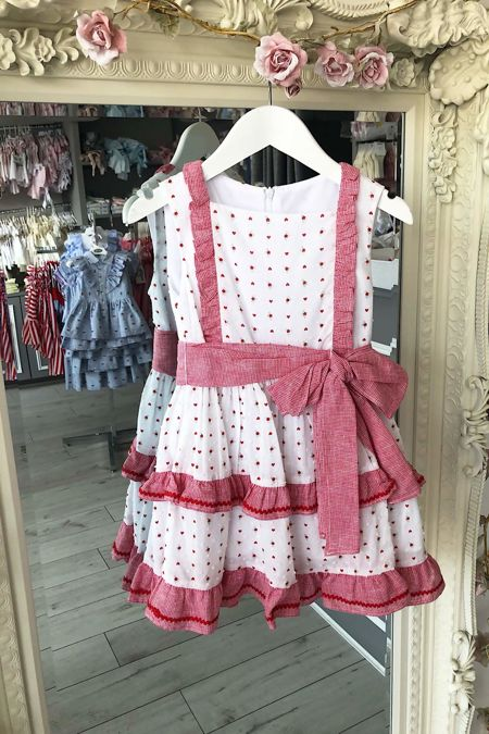 Red and white bow dress