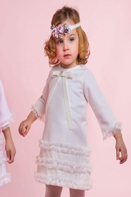 Rochy cream A line ceremonia dress