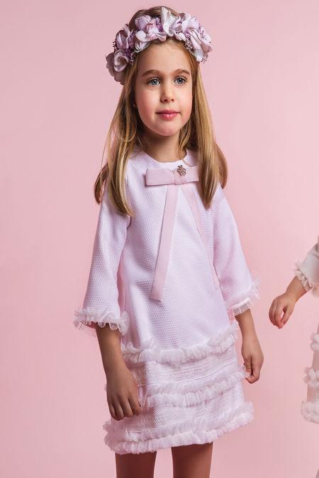 Rochy pink A line ceremonia dress