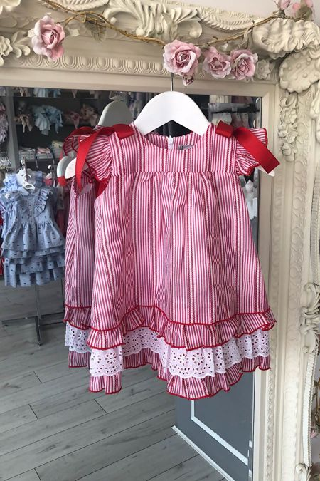 Rochy red and white stripe dress