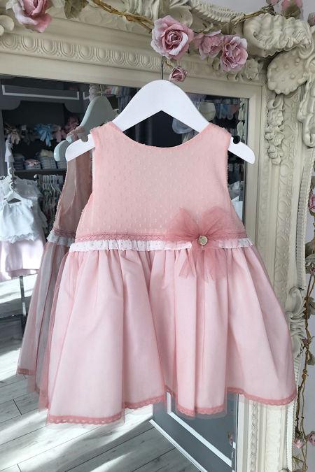 Yoedu peach tulle dress