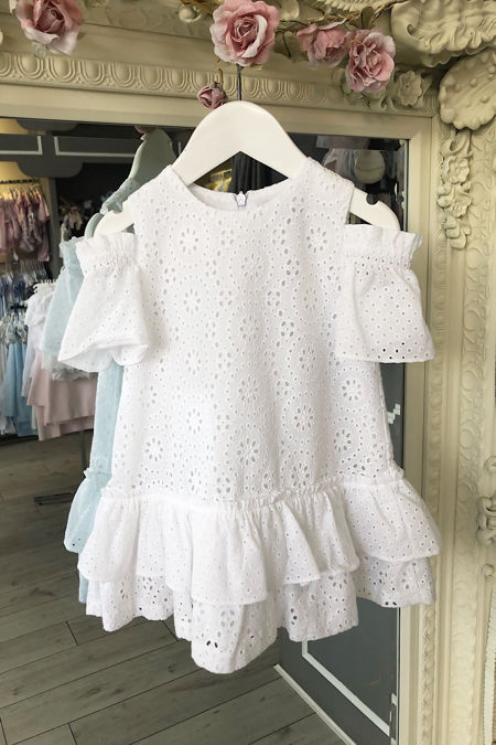 Rochy white broderie anglaise dress