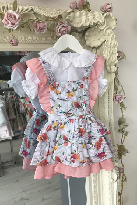 Floral dress and blouse set