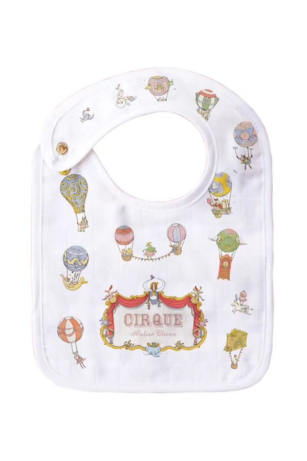 Atelier choux Paris Small bib- Circus