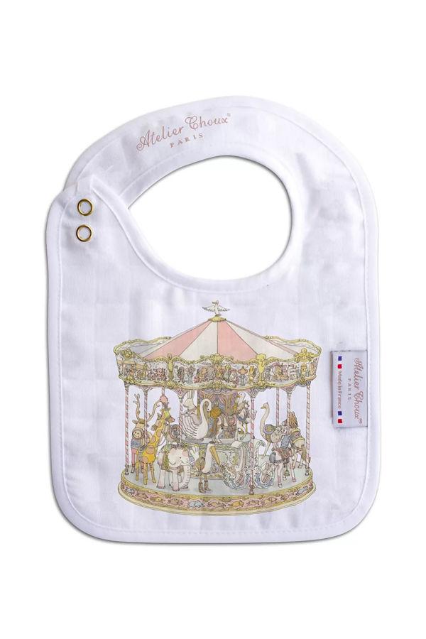 Atelier choux Paris Small bib- Carousel pink
